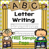 Free Letter Writing Practice Page - Letter A (For Toddlers and Preschool)