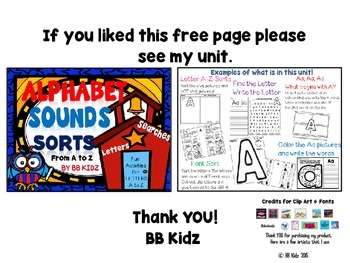 Free Letter page / Color and write the words / Letter Search / phonics