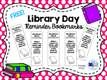 Free Library Day Reminder Bookmarks