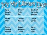 Free Library Day Rotation Chart ~ Editable PDF