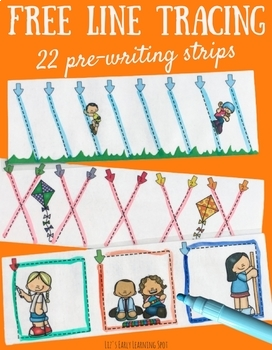 Free Line Tracing: 22 Pre-Writing Strips