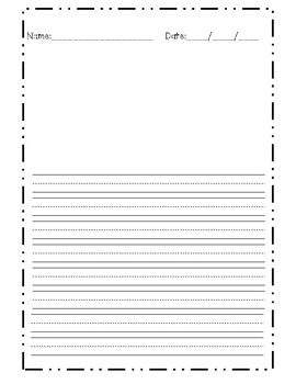 Free Lined Paper for Primary Students.