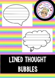 Free Lined Thought Bubbles