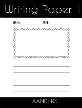 Free Lined Writing Paper with Picture Box