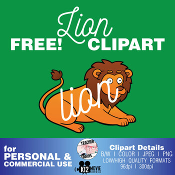 Free Lion Clip Art | (TeacherTravis Clipart)