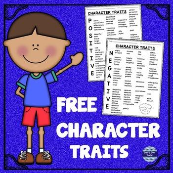 Free List of Character Traits