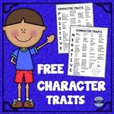 Character Traits List:  Free