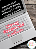 Digital Literacy Resource List: Websites and Educational Apps