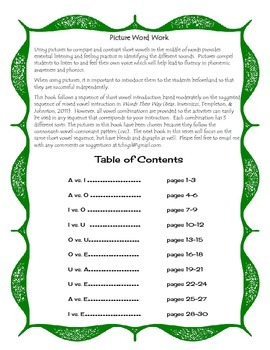 Free Listen and Write CVC Words Book 2 Sample Page