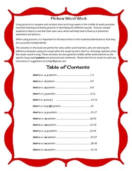 Free Listen and Write Long Vowel Patterns Book 4 Sample Page