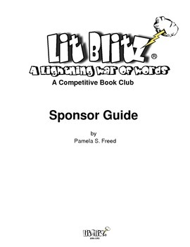 Free Lit Blitz Book Club Sponsor Guide and Charts