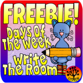 Free Literacy Center Days Of The Week Write The Room Trace The Room Cat Centers