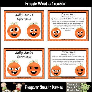 Literacy Center -- Jolly Jacks (Synonyms)