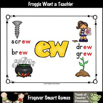Vowel Team Posters--Look, Listen, Learn Long U Vowel Team /ew/