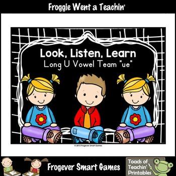 Vowel Team Posters-- Look, Listen, Learn Long U Vowel Team /ue/