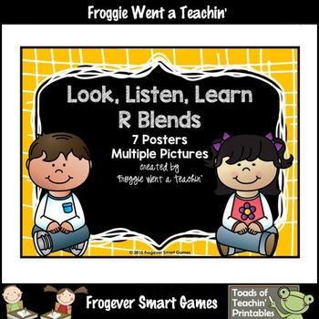 Literacy Teaching Resource--Look,Listen,Learn R Blends Posters