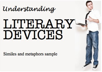 FREE Literary Devices Poster Sample: similes and metaphors