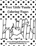 Free Little Panda Coloring Pages