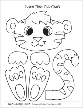 Tiger Crafts And Letter T Tracing