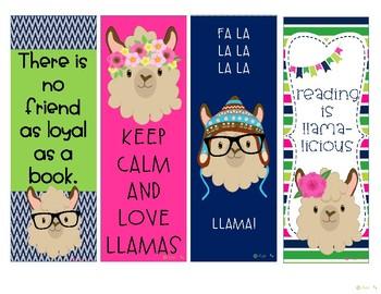 Free Llama LLama Bookmarks