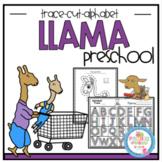 Free Llama Tracing-Cutting & Alphabet Practice