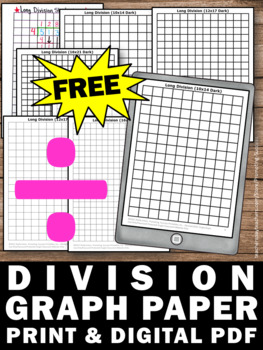 free long division graph paper long division strategies 4th 5th grade math. Black Bedroom Furniture Sets. Home Design Ideas