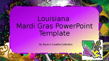 Free Louisiana Mardi Gras Powerpoint Template