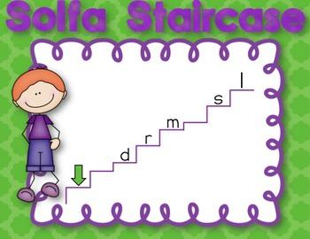 Free Low La Solfa Staircase Prepare and Practice Visuals