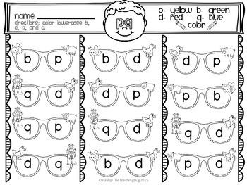 Free Lowercase p,d,b,and q mask craft