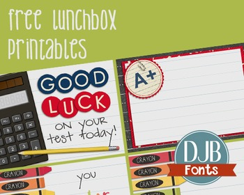 Free Lunch Box Note Printables