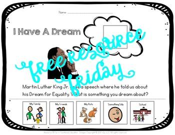 Free MLK Day Adaptive Worksheet