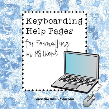 MS Word Formatting Tips for Students, Keyboarding Skills (freebie)