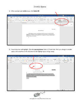 MS Word Help Pages for Students, Keyboarding Skills (freebie)