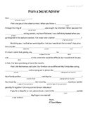 """Free """"Mad Libs"""" Style Worksheet for Valentine's Day - English"""