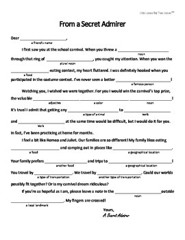 Bright image with regard to valentine mad libs printable