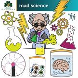 Free Mad Science Halloween Clip Art