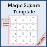 Magic Square Template