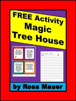Free Magic Tree House Book Extension Task Cards