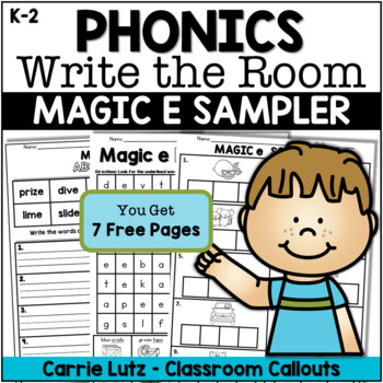 Free!  Magic e ~ WRITE THE ROOM With Practice Pages