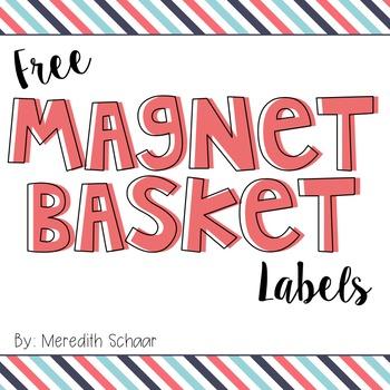 Free Magnet Basket Labels