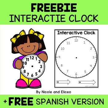Math Centers - Manipulative Clock Template