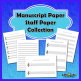 Free Manuscript Paper / Staff Paper Collection - US Letter Size