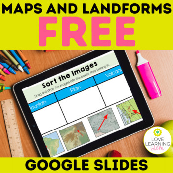 Free Maps and Landforms Earth Science Interactive Digital Journal Google Slides