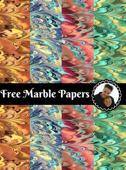 Free Marble Digital Paper Pack