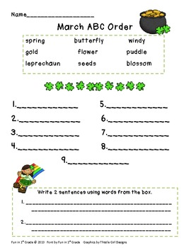 Free March ABC Order