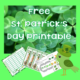 Free St. Patrick's Day Bookmarks, Doubles Graphing Activit