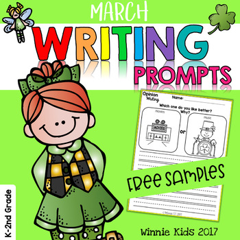 FREE March Writing and Picture Prompts