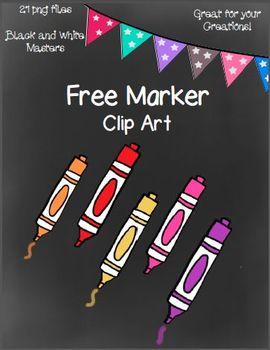 Free Marker Clip Art