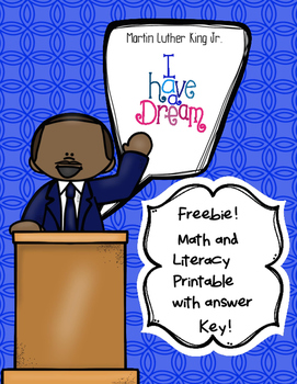 Free Martin Luther King Jr. Math and Literacy Printables