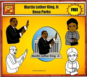 Free Martin Luther King, Jr. and Rosa Parks Clip Art